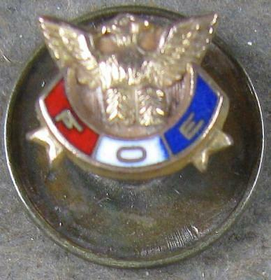 1940's Hat Pin~FOE Eagles~Gold Filled