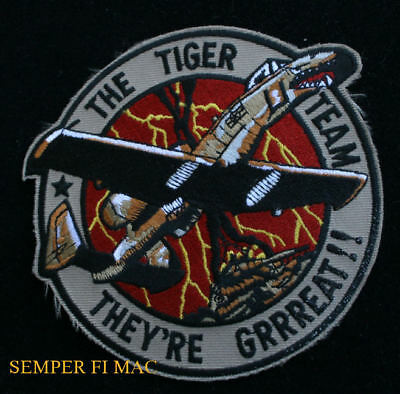 23rd TFW A-10 TIGER TEAM WARTHOG PATCH US AIR FORCE PIN UP PILOT CREW VETERAN