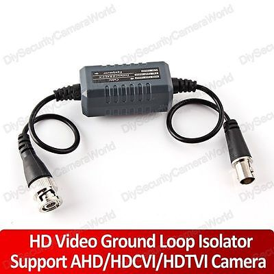 4x CCTV Video Ground Loop Isolator, Coaxial Cable, BNC