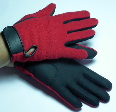 1 Paar Wintergolfhandschuhe FLEECE Damen rot  XS S  GOLF Golf Winter Handschuhe