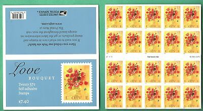 USA STATI UNITI Stamps 2005 Love Hand And Flower Bouquet Booklet 37