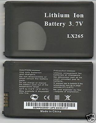 NEW BATTERY FOR LG LX265 NEON 2 GW370 ENCORE GT550 USA