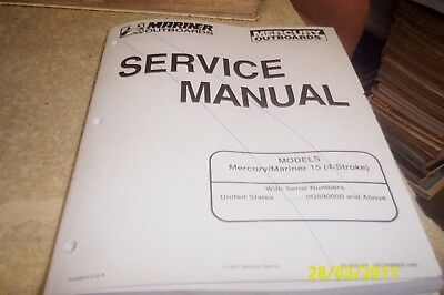 MERCURY Mariner Outboards Factory  Manual 15hp 1997