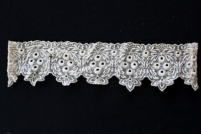 "Antique Victorian-Edwardian Lace Collar 12""x 3"""