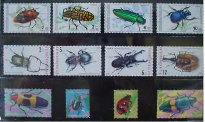 Thailand Stamp Insects 1-2-3 Series