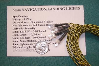 5mm NAVIGATION LED LANDING LIGHTS. SUPER BRIGHT