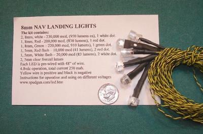 8mm NAVIGATION LED LANDING LIGHTS. SUPER BRIGHT