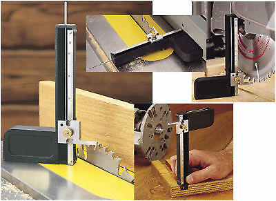 Table Saw Router Bit Depth Gauge Guide 1/32 & mm incrmt