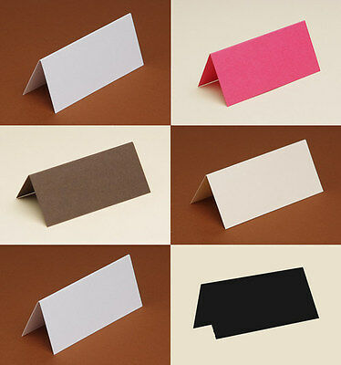 50 Table/Place cards 240gsm white, black, cream, ivory, Navy, Yellow, Pink, Blue
