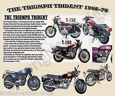 Triumph Trident Motor Bike Mouse Mat Limited Edition