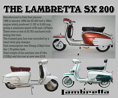 Lambretta Sx 200 Scooter Mouse Mat Limited Edition Xmas
