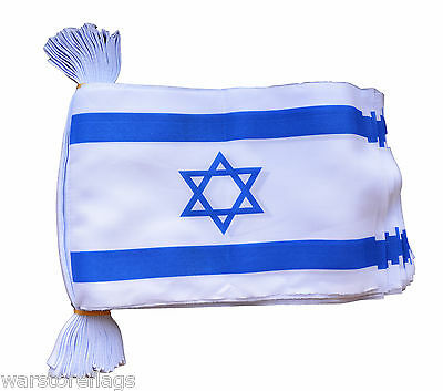 ISRAEL FLAG BUNTING 30 flags 9 metres JEWISH JEW FLAGS