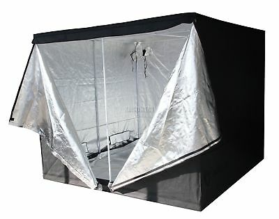 FoxHunter Hydroponics Grow Tent Bud Dark Green Room 2.4m X 2.4m X 2m New
