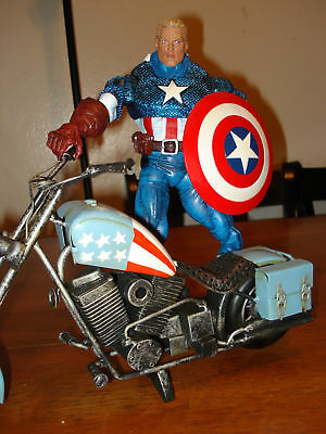 Marvel Icon Captain America w/ Custom Bike HandmadeTin
