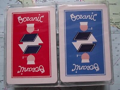 Twin Box c1960 Oceanic Shipping Line Playing Cards Mint