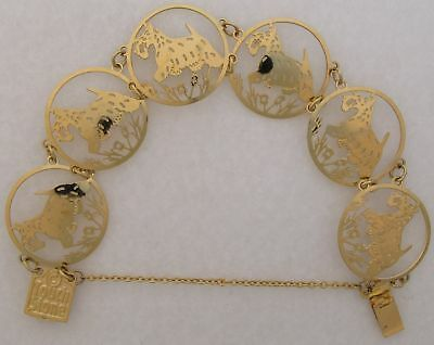 Scottish Terrier Jewelry Gold Bracelet  by Touchstone