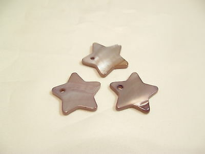 10 x Natural Shell Dyed Star Pendants: BNSB113