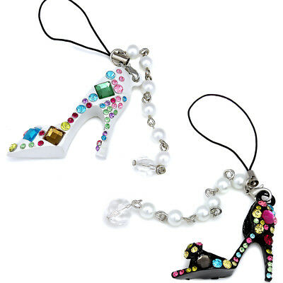 Sparkling Crystal & Pearl Hot Fashion Shoes For Mobile Phone Charms Women Girls