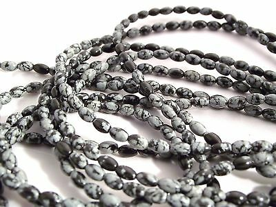 Snowflake Obsidian Gemstone Beads Various Size/quantity
