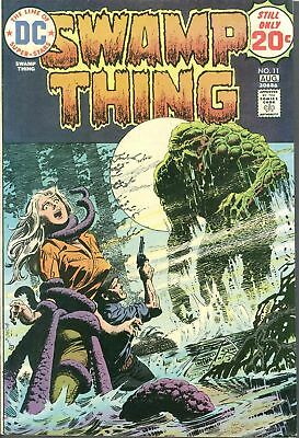 Swamp Thing 11 NM 1st SERIES 1974 DC Gorgeous Headlights & Tentacles HIGH GRADE!