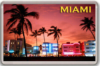 Miami Imán Nevera Fridge Magnet Souvenir
