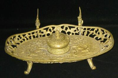 Antique French Gilded Bronze Ink Well ca.1850's