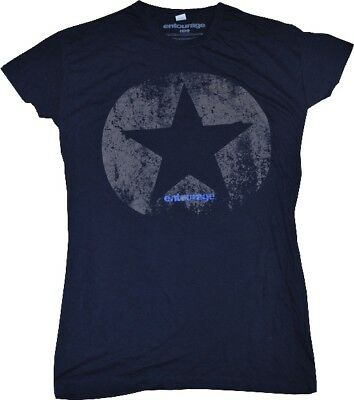 ENTOURAGE Star Logo Navy Blue Female T-Shirt XXL NEW