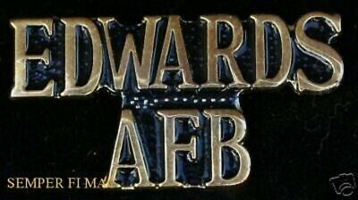 AUTHENTIC EDWARDS AFB CA SCRIPT HAT PIN AIR FORCE NASA