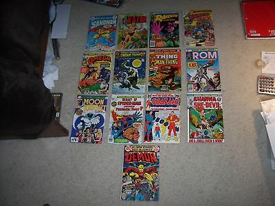 Awesome Lot Of 13 Bronze Age #1 Issues Many Key Comics!