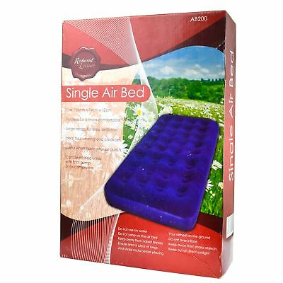 Inflatable Single Air Bed For Camping / Festivals Mattress Airbed CMP06