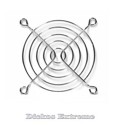 80mm Chrome wire fan grill / finger guard. For PC computer fan.