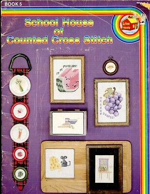 School House of Counted Cross Stitch Book 5 Fruits Veg