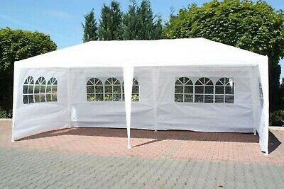 FoxHunter 6M x 3M Party Tent Marquee Gazebo TWO SUPPORT BEAMS Waterproof White