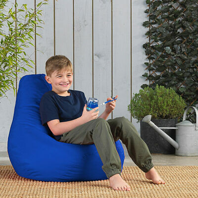 Childrens Tall Gaming Indoor Outdoor Bean Bags Beanbag Kids High Back