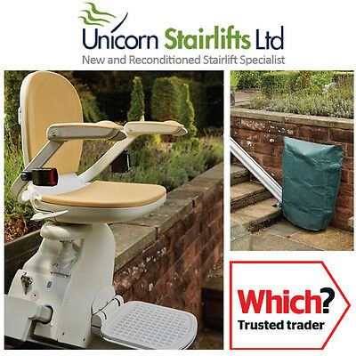 Brooks 130 Outdoor Stairlift   Weatherproof   External Stair Lift  Reconditioned