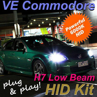 Holden VE Commodore Low Beam Headlight HID Kit H7 6000K SS SSV series 1 & 2 HSV