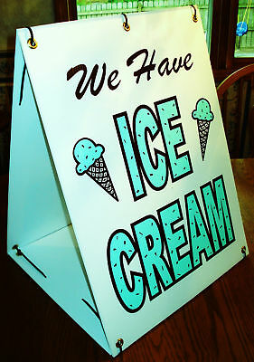 We Have ICE CREAM 2-Sided Sandwich Board Sign Kit NEW