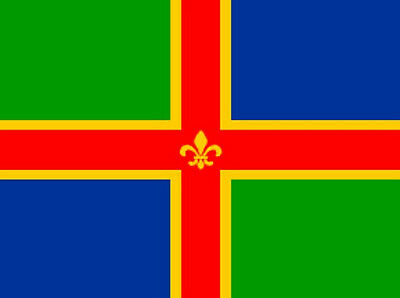 LINCOLNSHIRE 3X2 COUNTY FLAG Lincoln market rasen flags