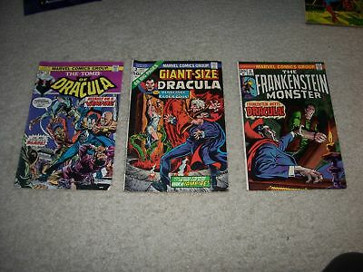 Awesome Lot Of 3 Dracula Mid To Higher Grade Comics !!!