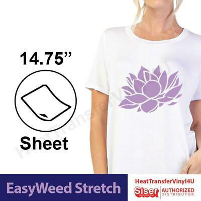 """Siser EasyWeed Stretch Heat Transfer Vinyl 3 Sheets (15"""" x 12"""") Mix It Up"""