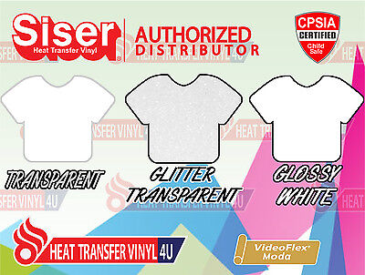 "Siser VIDEOFLEX MODA Heat Transfer Vinyl 15"" x 12"" (1 Foot) Select Your Colors!"