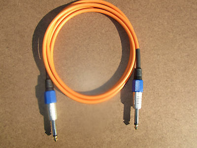 GS-6 1//4 TS to RCA Audio Cable 10 Ft BLUE. Canare GS6