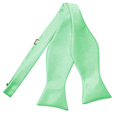 Dqt High Quality Self Tie Wedding Mens Bow Mint Green