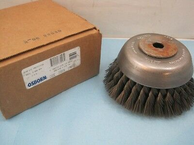 "6245 Osborn Knotted Wire Cup Brush 6"" Diameter 33028 NEW FREE Shipping Conti USA"