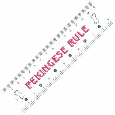 PEKINGESE RULE Plastic 6 Inch RULER Dog
