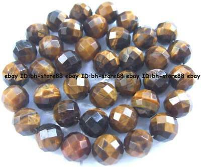 10mm Natural yellow Tiger's Eye round faced Beads 15''