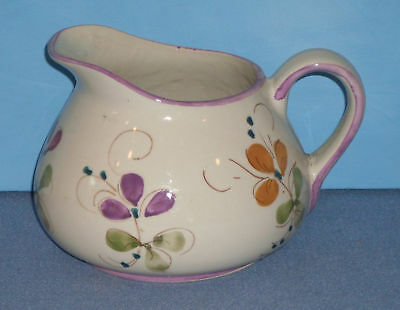 Hand Painted Floral Pitcher Made In Portugal - Lovely!