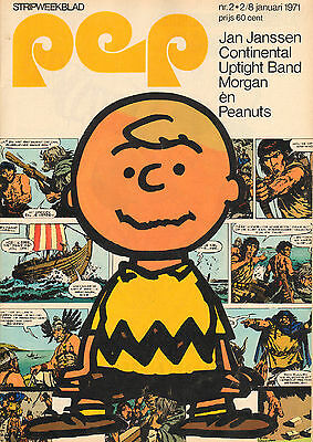 PEP 1971  nr. 02 - CONTINENTAL UPTIGHT BAND / PEANUTS (COVER) / JAN JANSSEN
