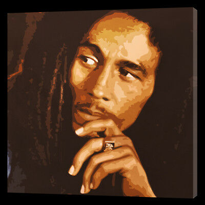 Bob Marley Pop Art  Style Oil Painting 16x16  in size.