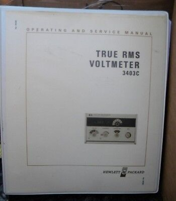 Hp 3403C True Rms Voltmeter Operating & Service Man.
